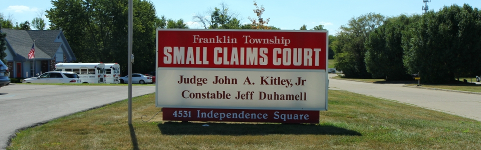 Small Claims Sign Wide